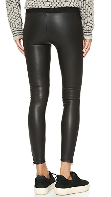 David Lerner Pull On Vegan Leather Leggings