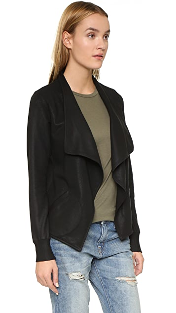 David Lerner Long Sleeve Drape Jacket