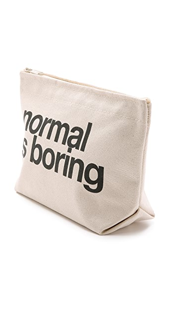 Dogeared Normal Is Boring Pouch