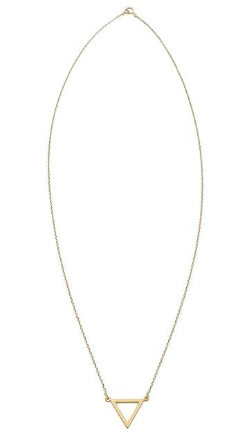 Dogeared Balance Triangle Necklace