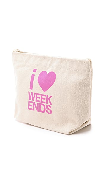 Dogeared I Heart Weekends Pouch