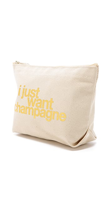 Dogeared I Just Want Champagne Pouch
