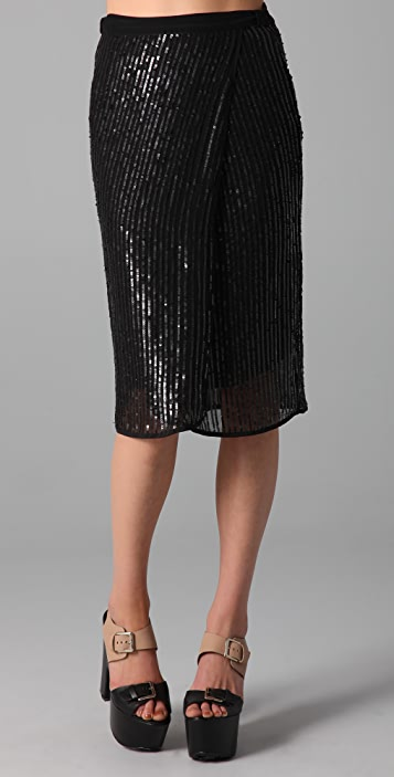 Dolan Midi Wrap Skirt
