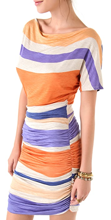 Dolan Shirred Tee Dress