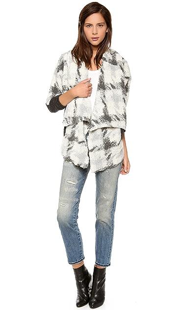 Dolan Mixed Knit Cardigan