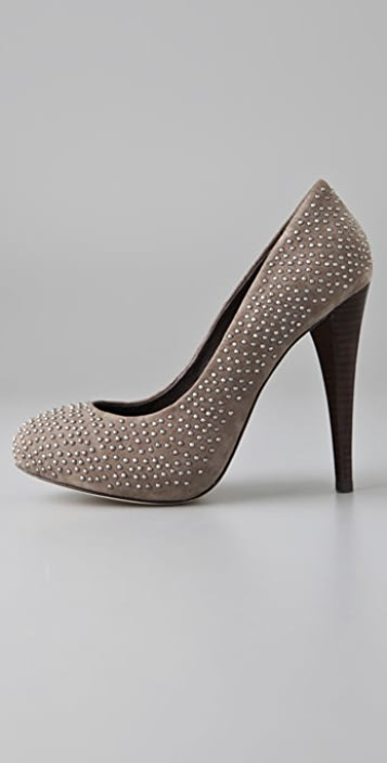 Dolce Vita Trinity Studded Suede Pumps on Hidden Platform
