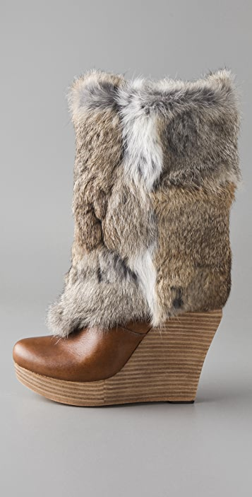 Dolce Vita Pippa Wedge Boots with Fur