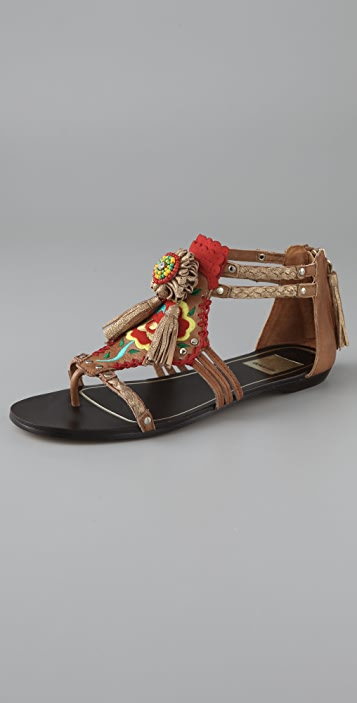 Dolce Vita Edda Embroidered Sandals
