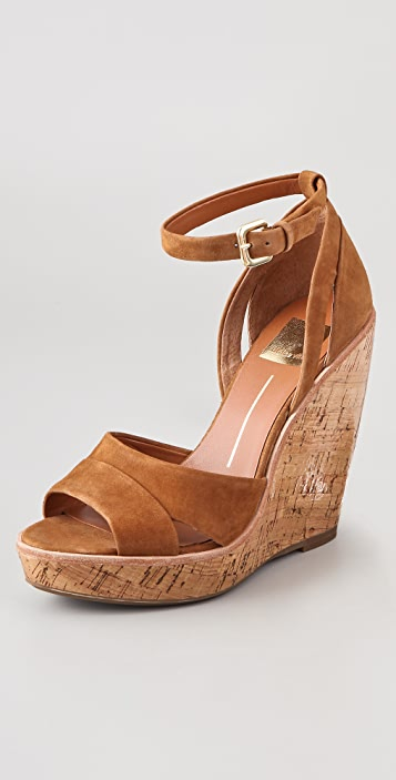 Dolce Vita Paiva Lacquered Suede Wedges