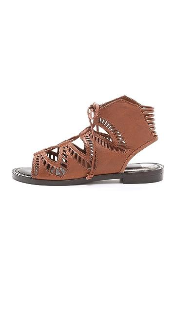 Dolce Vita Deklon Lace Up Flat Sandals