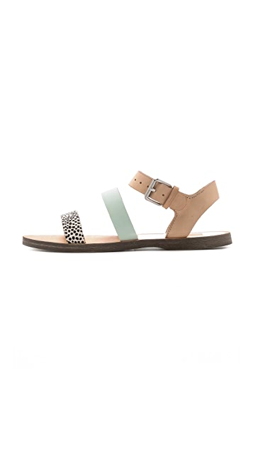 Dolce Vita Veya Flat Haircalf Sandals