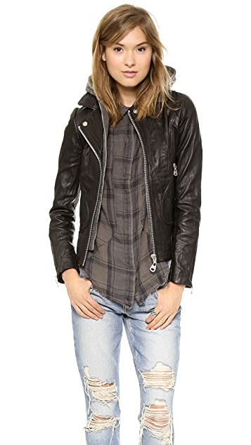 Doma Hoodie Leather Jacket