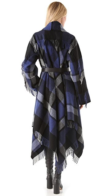 Donna Karan Casual Luxe Blanket Coat