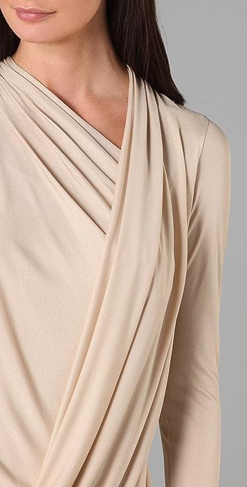 Doo.Ri Long Sleeve Draped Dress