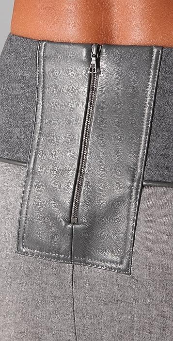 Doo.Ri Long Draped Skirt with Leather Trim