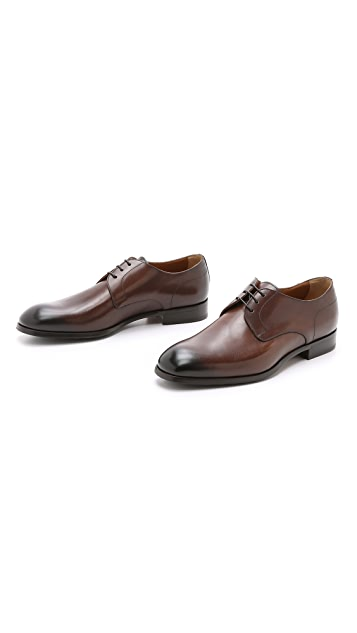 Doucal's Vienna Plain Toe Derby Shoes