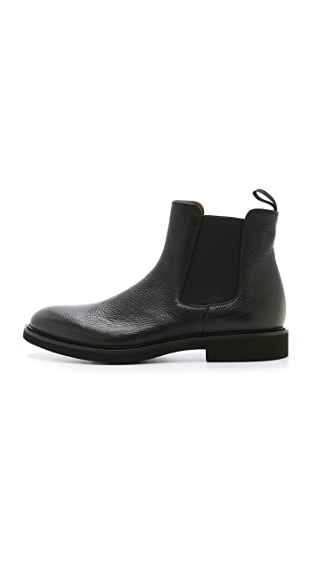 Doucal's Genova Pebbled Grain Chelsea Boots
