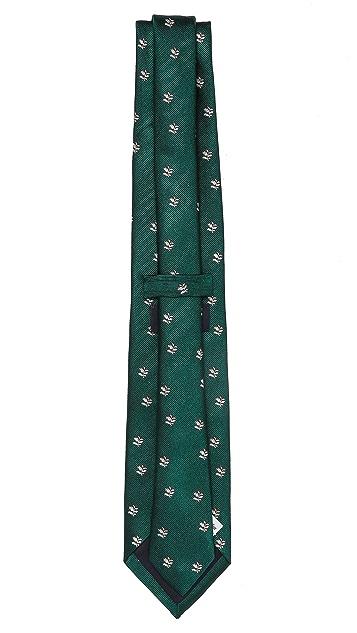 Drake's Leaf Woven Tie