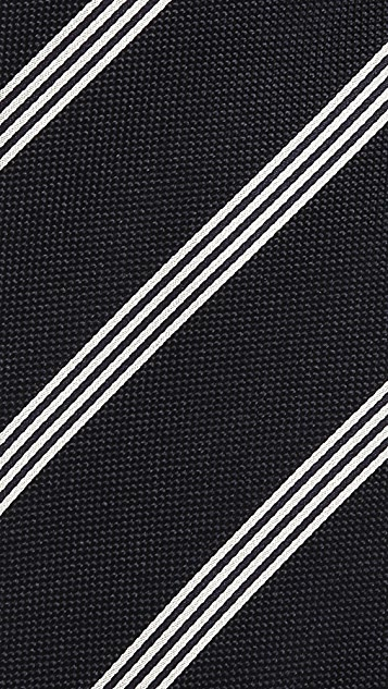Drake's Stripe Woven Tie
