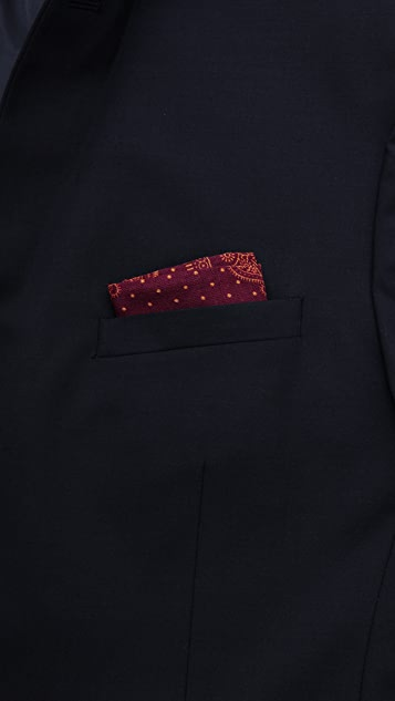 Drake's Paisley Pocket Square