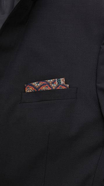 Drake's Tile Print Pocket Square
