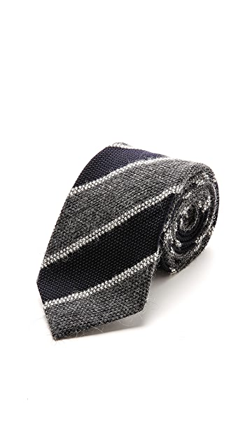 Drake's Striped Necktie