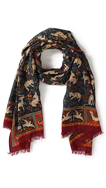 Drake's Archival Hunter Print Scarf