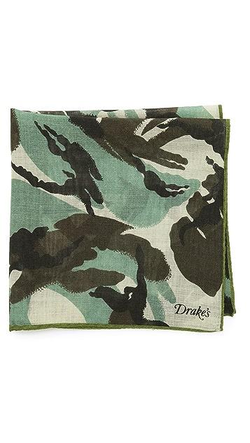 Drake's Camouflage Print Pocket Square