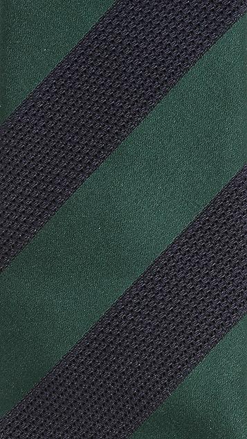 Drake's Striped Silk Grenadine Tie