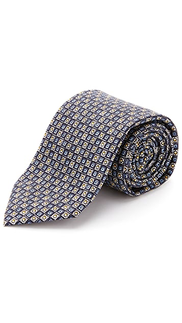 Drake's Silk Print Tie