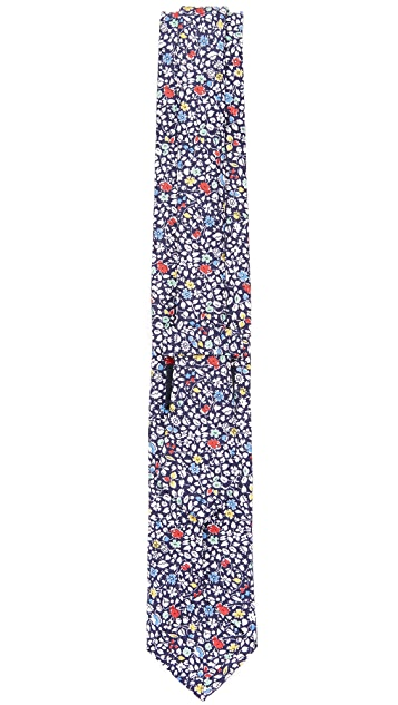 Drake's Linen & Silk Print Tie