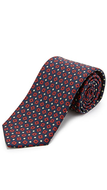 Drake's Silk Foulard Print Tie