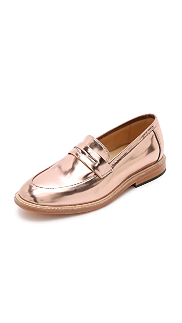 Dieppa Restrepo Metallic Penny Loafers