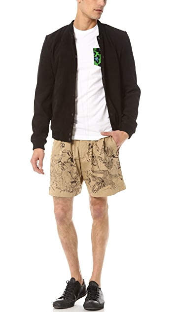 DSQUARED2 Stretch Drill Cotton Shorts