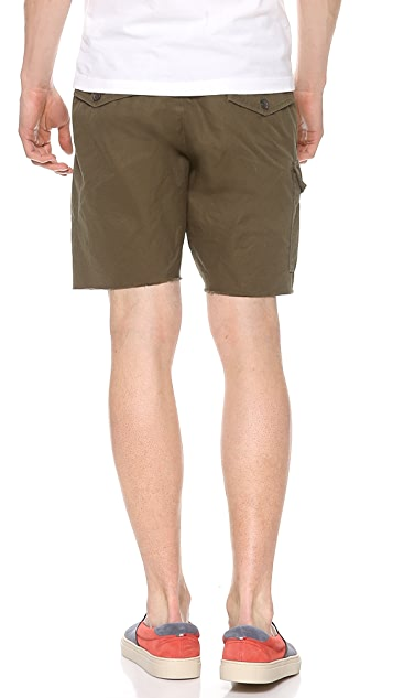 DSQUARED2 Cotton Shorts with Zebra Haircalf