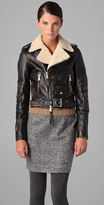 DSQUARED2 Christopher Kiodo Leather Jacket