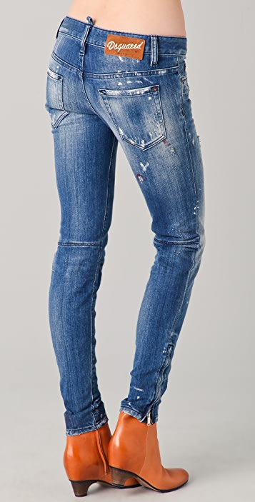 DSQUARED2 Distressed Blue Jeans