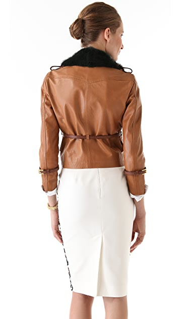 DSQUARED2 Naked Angel Leather Jacket