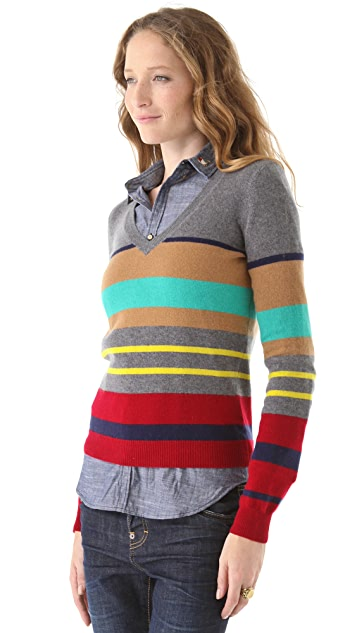 DSQUARED2 Striped Cashmere Sweater