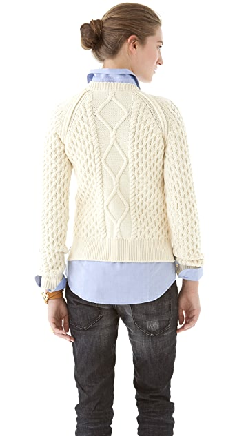 DSQUARED2 Cable Crew Neck Sweater
