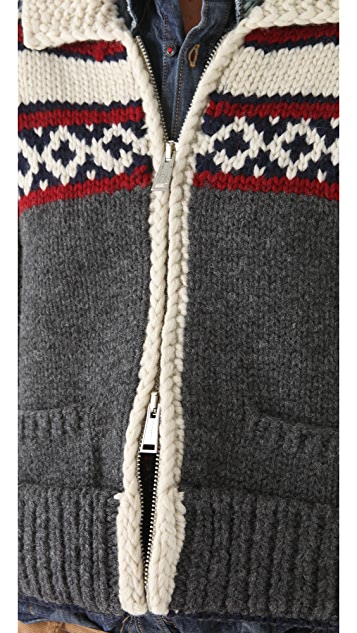DSQUARED2 Intarsia Cropped Cardigan