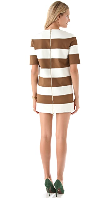 DSQUARED2 Striped Jersey Mini Dress