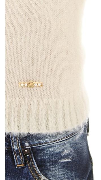 DSQUARED2 Shrunken Mohair Sweater