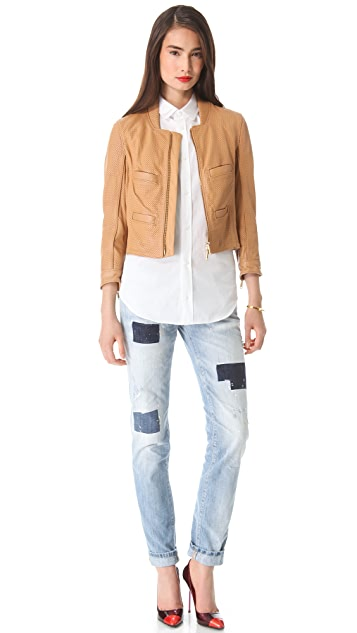 DSQUARED2 Croisette Leather Jacket