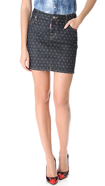 DSQUARED2 Dotted Skirt