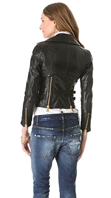 DSQUARED2 Cher Lapierre Leather Jacket