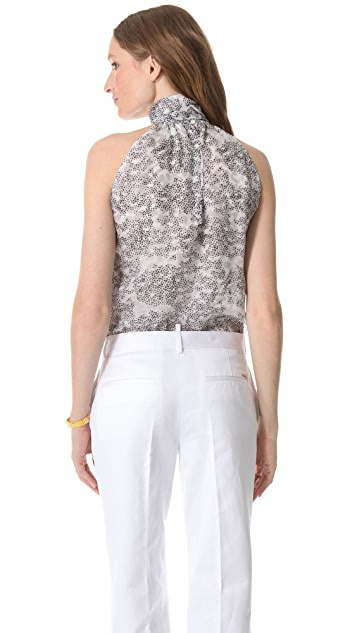DSQUARED2 Bow Short Sleeveless Blouse