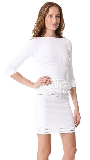 DSQUARED2 3/4 Sleeve Peplum Dress