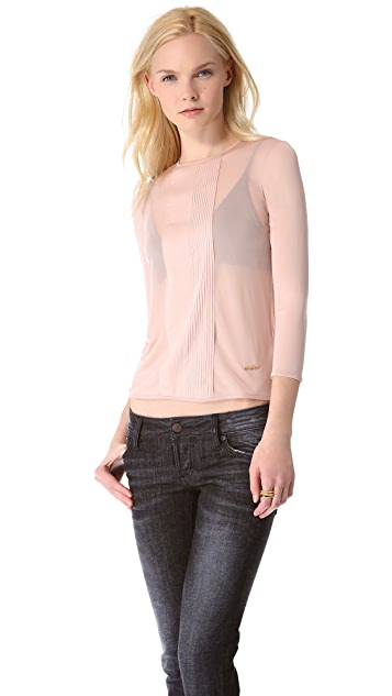 DSQUARED2 Pleated Jersey Blouse