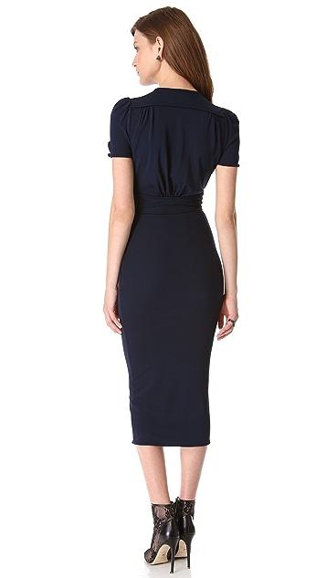 DSQUARED2 Puff Shoulder Neck Tie Dress